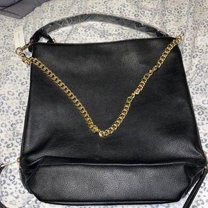 Capsule Black & Gold Shoulder Bag